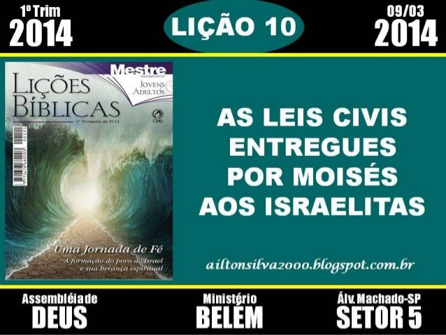 As leis civis entregue por Moisés aos israelitas