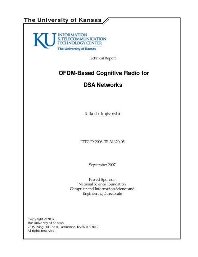 OFDM Based Cognitive radio