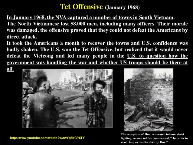 the tet offensive and how it affected the vietnam war  battle of ap bac, the gulf of tonkin incident, the tet offensive, and the my lai  massacre (2015)  the vietnam war was a hallmark in journalism history   stated his opinion on television's effect on the american public.