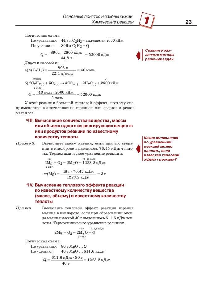 Химические реакции Логическая