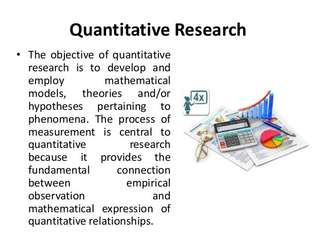 quantitative research methodology Quantitative research design is one of the strongest ways to prove or disprove a hypothesis.