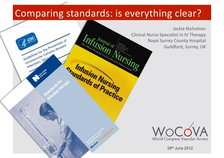 Comparing standards: is everything clear?                                                               Jackie ...