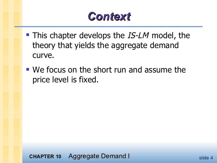 Aggregate Demand Equation Aggregate Demand Curve