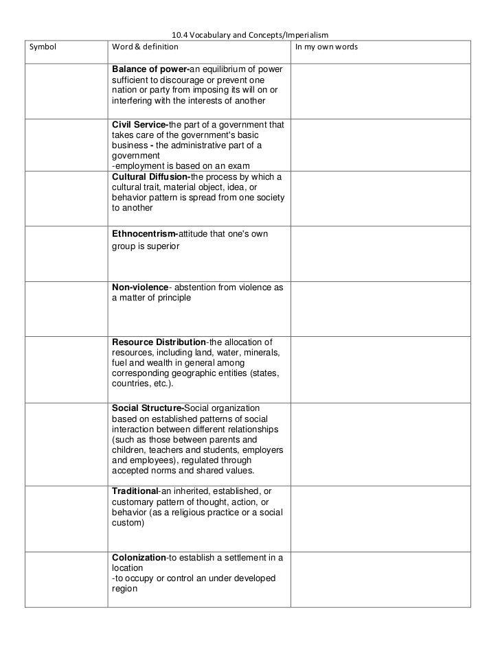 10.4 definition sheet