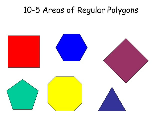 10 5 areas of a regular polygon