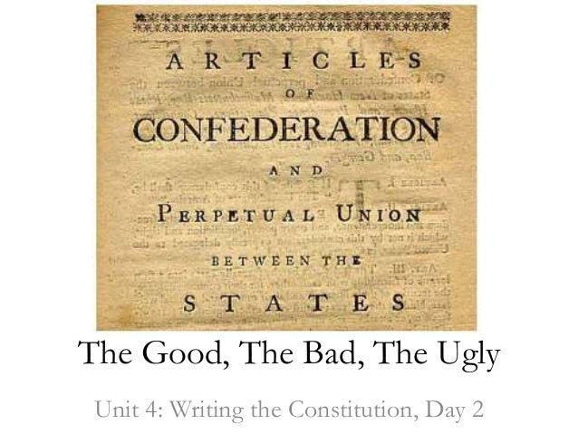 essays about articles of confederation