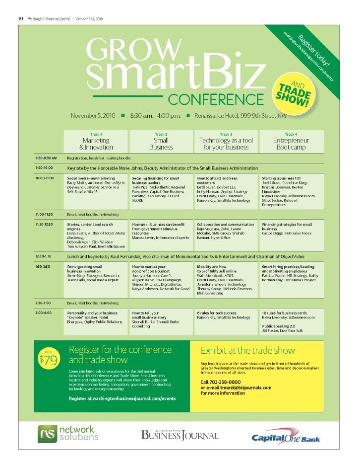 GrowSmartBiz Conference Nov 5th 2010