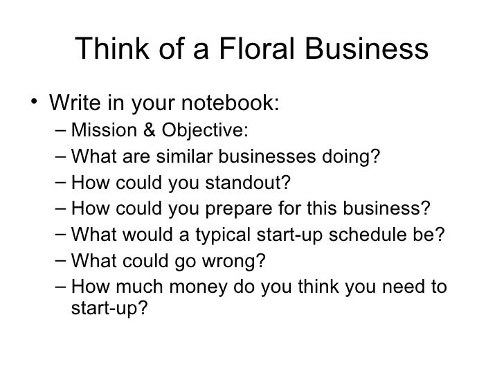 Florist business plan