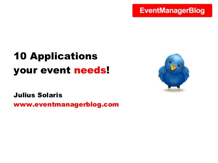 10 Applications Your Event Needs