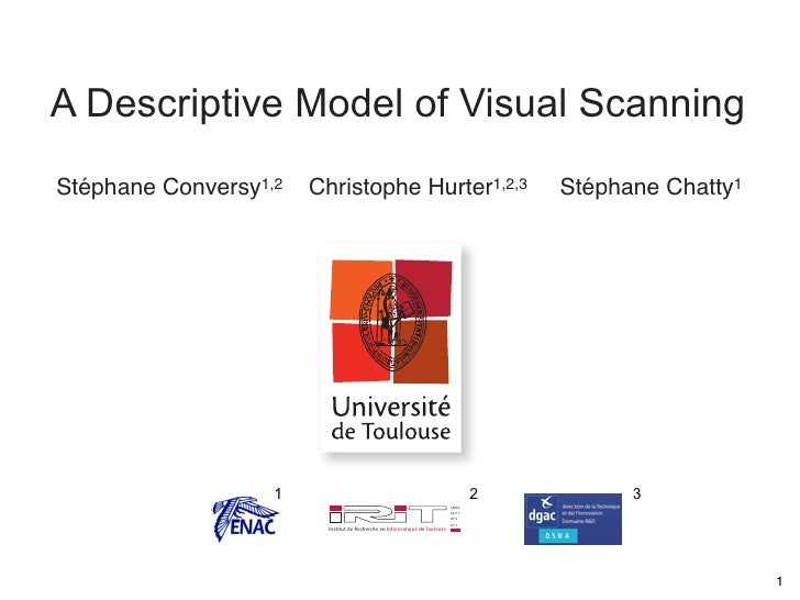 A Descriptive Model of Visual Scanning Stéphane Conversy1,2   Christophe Hurter1,2,3                                      ...