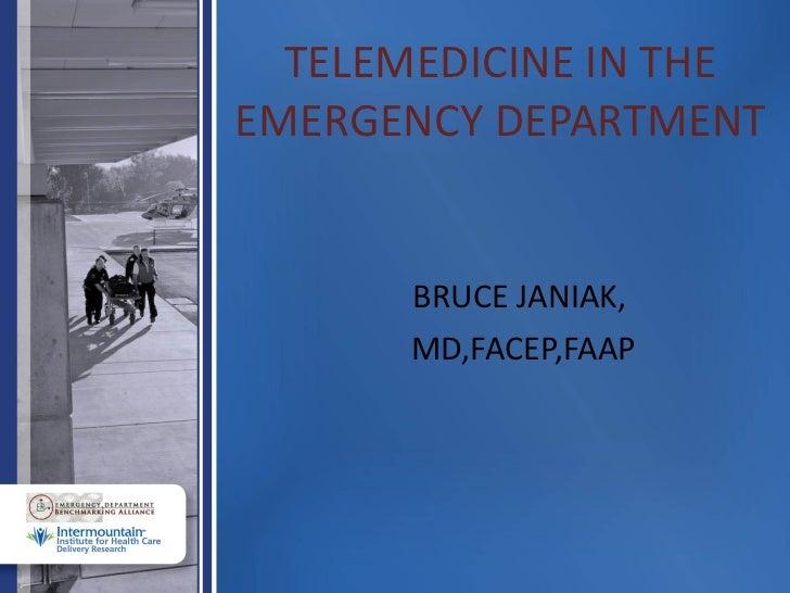 Telemedicine in the Emergency Dept.