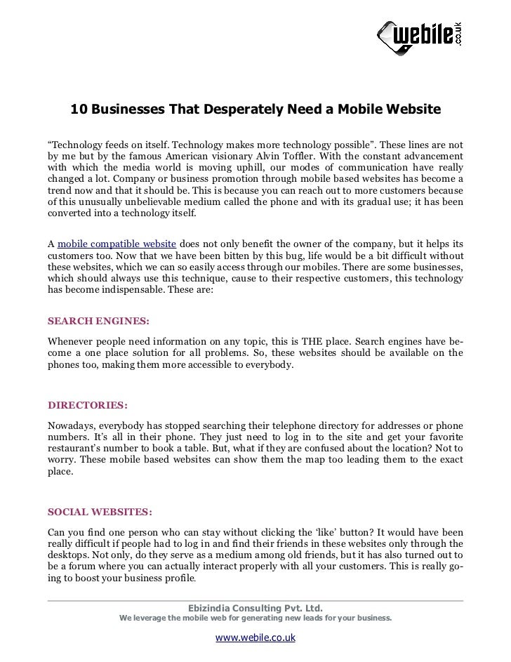 10 Businesses That Desperately Need a Mobile Website