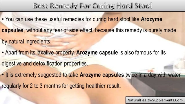 What Is The Best Remedy For Curing Hard Stool