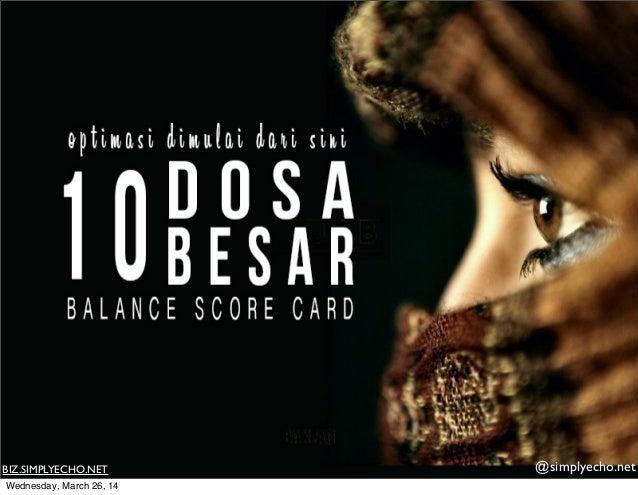 10 Dosa Besar Balance Score Sheet