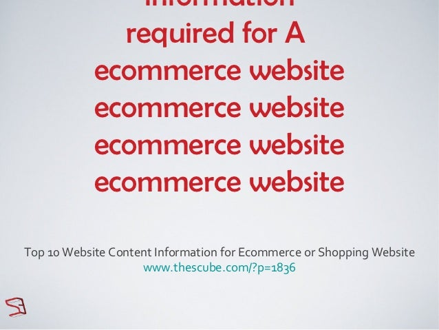 information              required for A            ecommerce website            ecommerce website            ecommerce web...