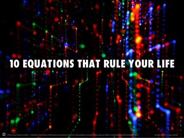 10 Equations that rule your life