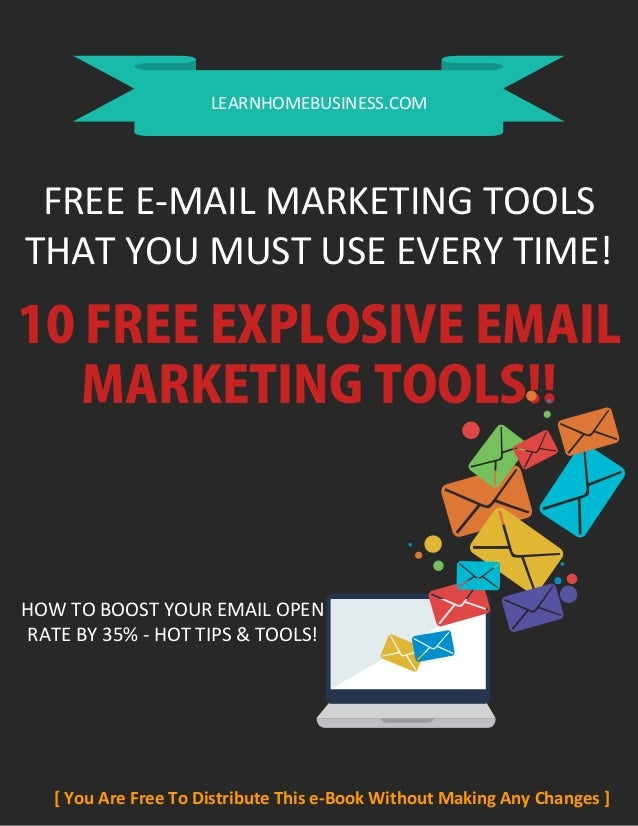 10 free explosive email marketing tools