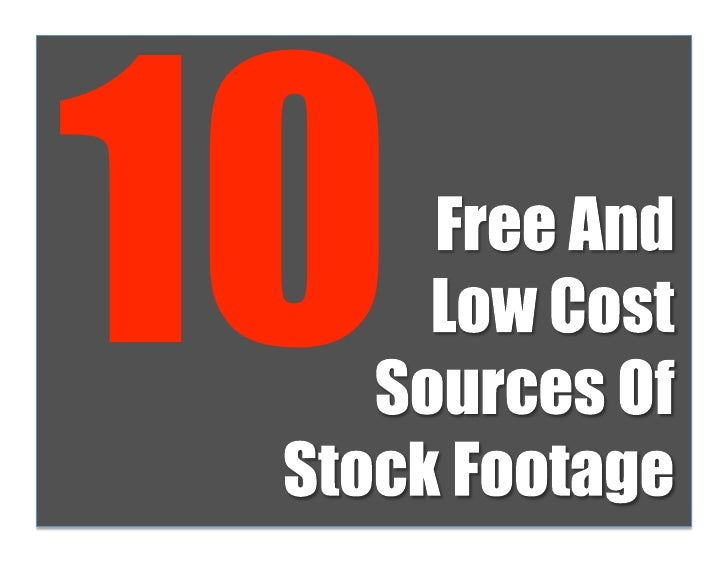 10 Free And Low Cost Stock Footage Sources For Your Web Video Production