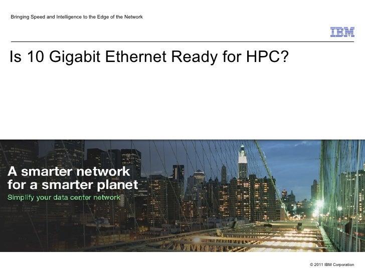 10G Ethernet Outlook for HPC