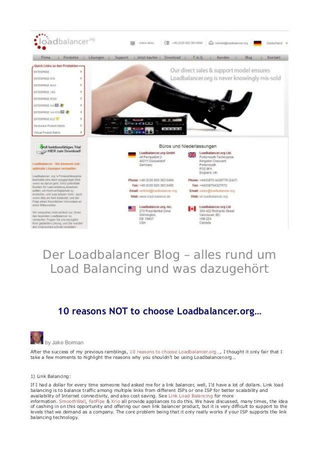 Der Loadbalancer Blog – alles rund um Load Balancing und was dazugehört 10 reasons NOT to choose Loadbalancer.org… by Jake...
