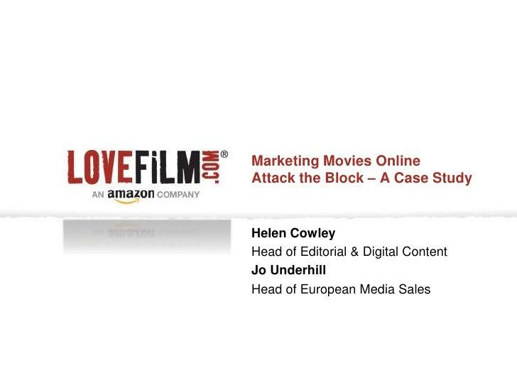 HELEN COWLEY & JO UNDERHILL - LOVEFiLM