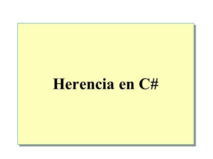 Herencia en  C#