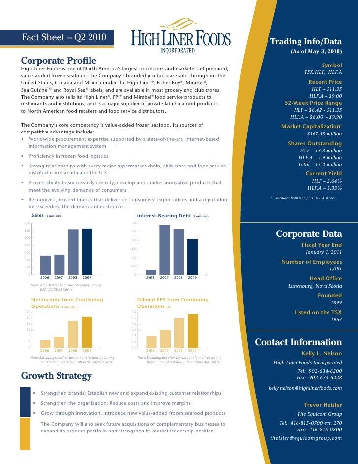 Fact Sheet – Q2 2010                                                                                                      ...