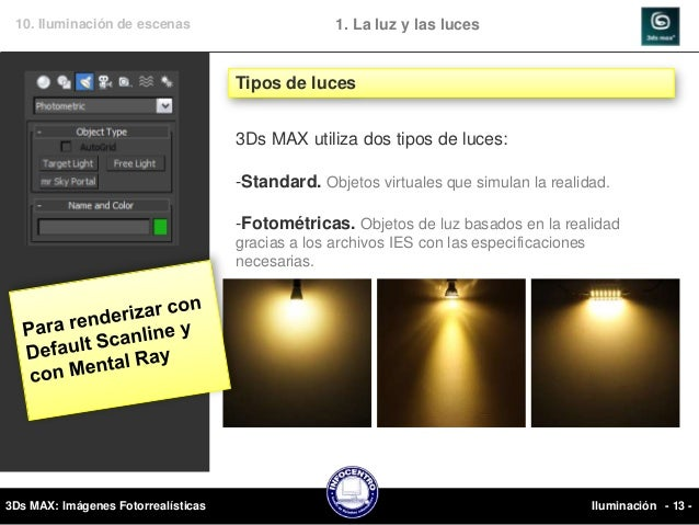 3ds max 10 iluminacion - Tipos de luces led ...
