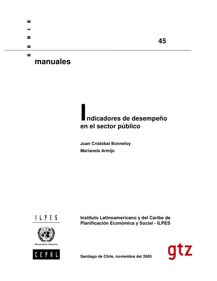 10. indicadores de desempeño en el sector público