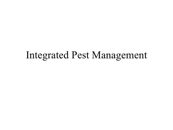 10 Integrated Pest Management