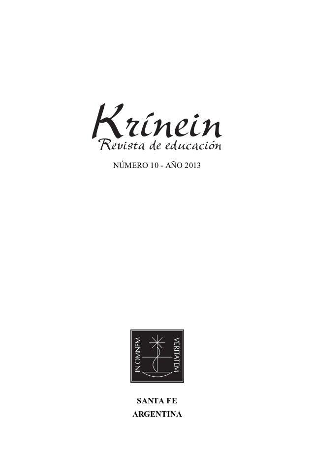 REVISTA KRINEIN. Nº 10. Año 2013