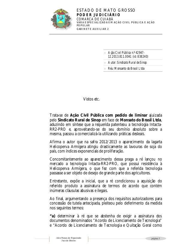 Decisão judicial impede Monsanto de impor condicionantes à entrega da soja Intacta em Mato Grosso