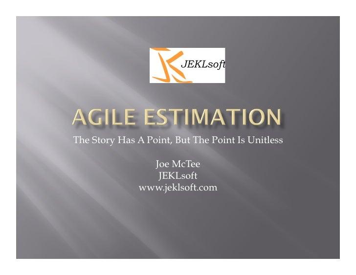 Agile Estimation