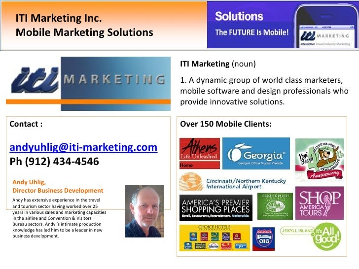 ITI Marketing Inc.  Mobile Marketing Solutions                                                    ITI Marketing (noun)    ...