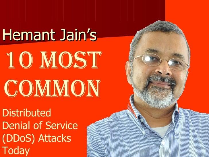 10 Most Common DDo S Attacks