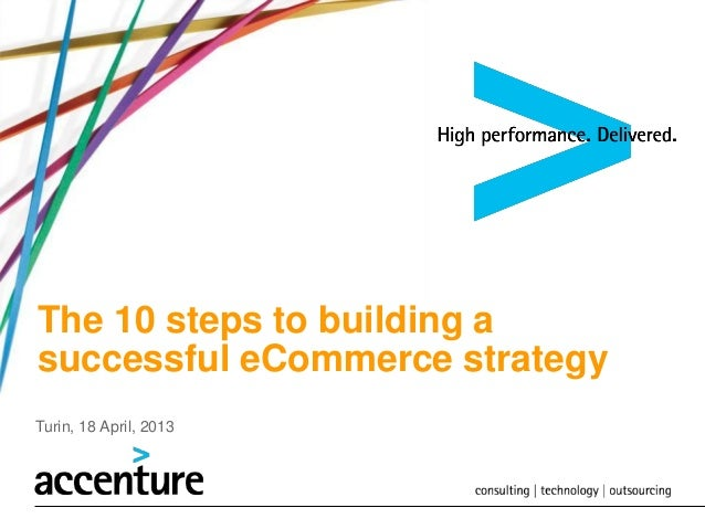 The 10 steps to building asuccessful eCommerce strategyTurin, 18 April, 2013