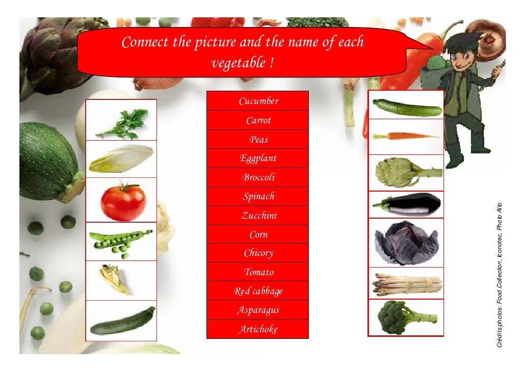 Vegetable names (5-7y) -Louis Bonduelle Foundation