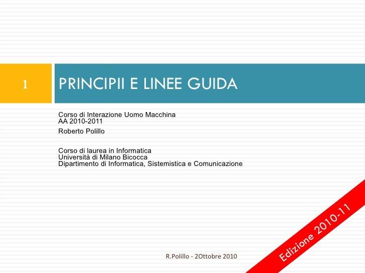 10. Principi e linee guida