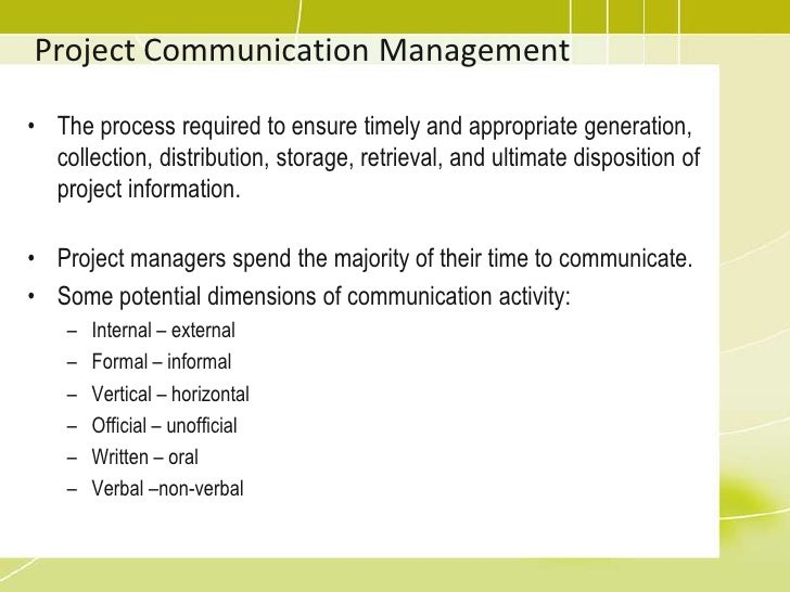 levels of the managerial communication process Organizational c onflict, c onflict management, and communication: a social complexity perspective kalle siira academic dissertation to be presented, with the.
