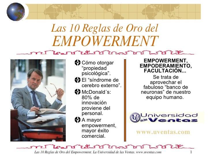10 Reglas para el Empowerment