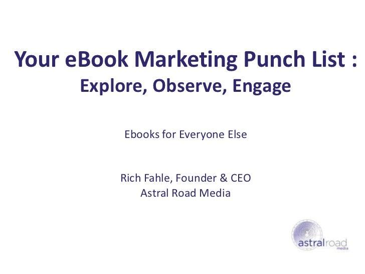Online Marketing of eBooks