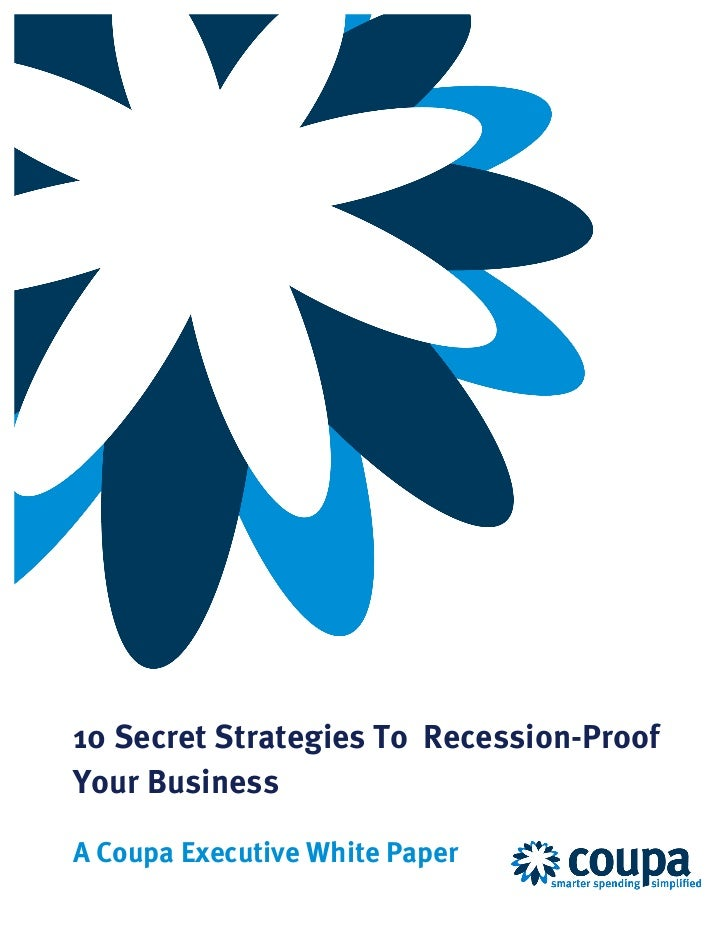 10 Secrets To Recession Proof Your Business
