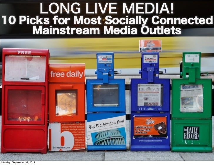 10 Socially Connected Mainstream Media Outlets