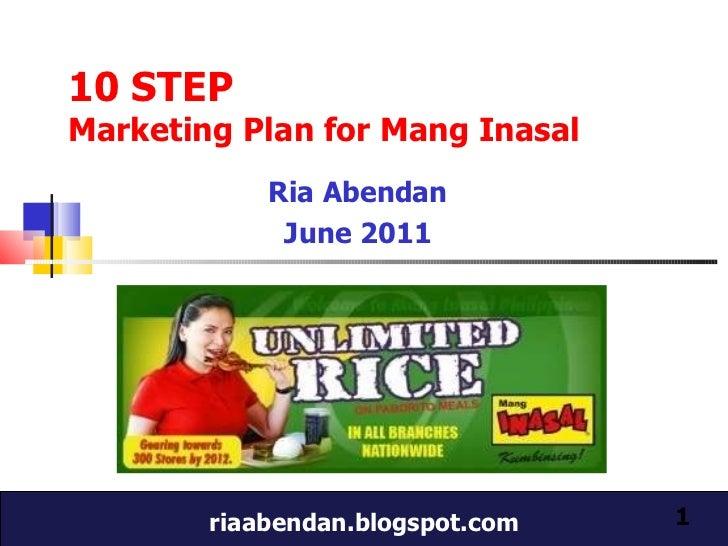 10 step marketing plan for Mang Inasal