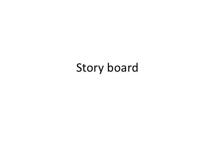Music Video Story Board