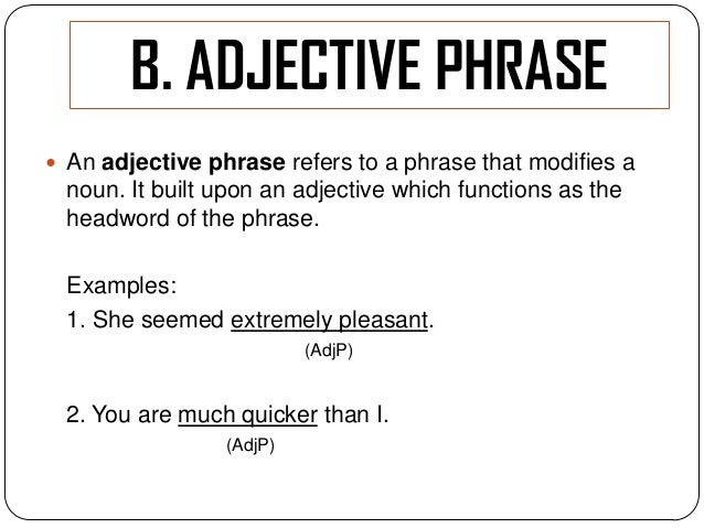 Adjective Phrases Worksheet As Well As Adjective Phrases Worksheets ...