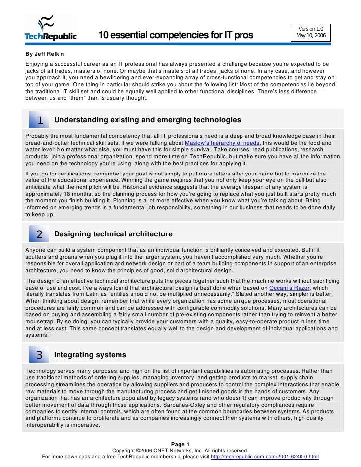 10 Things Competencies
