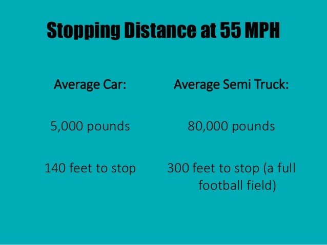 stoppping distance Safer driving: tips of driving safety including tips about towing, motorway driving and vehicle handling, truck braking systems and stopping distances.