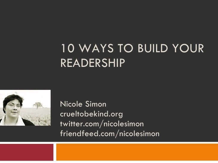 10 Ways To Build Your Readership