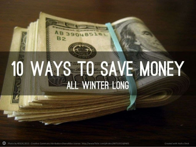 10 Ways To Save All Winter Long
